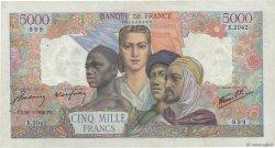 5000 Francs EMPIRE FRANÇAIS FRANCE  1946 F.47.51 TTB+
