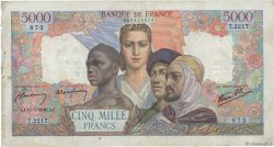 5000 Francs EMPIRE FRANÇAIS FRANCE  1946 F.47.53 B+