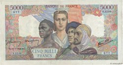 5000 Francs EMPIRE FRANÇAIS FRANCE  1946 F.47.53 pr.TTB