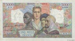 5000 Francs EMPIRE FRANÇAIS FRANCE  1946 F.47.55 TTB