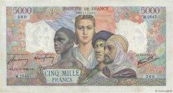 5000 Francs EMPIRE FRANÇAIS FRANCE  1946 F.47.56 TTB