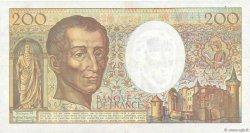 200 Francs MONTESQUIEU alphabet 101 FRANCE  1992 F.70bis.01 TTB