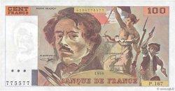 100 Francs DELACROIX imprimé en continu FRANCE  1990 F.69bis.02b SUP