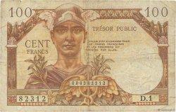 100 Francs TRÉSOR PUBLIC FRANCE  1955 VF.34.01 B+