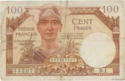 100 Francs TRÉSOR FRANÇAIS FRANCE  1947 VF.32.01 B