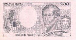 200 Francs MONTESQUIEU FRANCE  1981 F.70.00 pr.NEUF