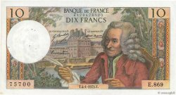 10 Francs VOLTAIRE FRANCE  1973 F.62.60 pr.SUP