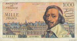 1000 Francs RICHELIEU FRANCE  1956 F.42.22 pr.TTB