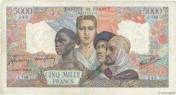 5000 Francs EMPIRE FRANÇAIS FRANCE  1945 F.47.32 TB