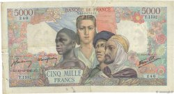 5000 Francs EMPIRE FRANÇAIS FRANCE  1945 F.47.47 pr.TB