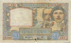 20 Francs SCIENCE ET TRAVAIL FRANCE  1941 F.12.17 B+