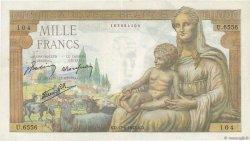 1000 Francs DÉESSE DÉMÉTER FRANCE  1943 F.40.27 TTB