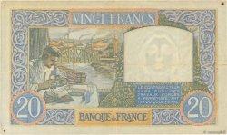 20 Francs SCIENCE ET TRAVAIL FRANCE  1940 F.12.04 TTB