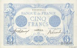 5 Francs BLEU FRANCE  1916 F.02.44 pr.SUP