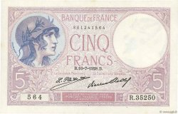 5 Francs VIOLET FRANCE  1928 F.03.12 SPL+