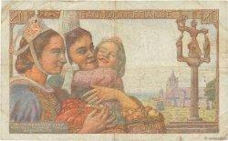 20 Francs PÊCHEUR FRANCE  1942 F.13.01 TB