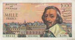 1000 Francs RICHELIEU FRANCE  1955 F.42.16 TTB