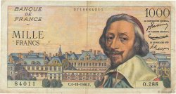 1000 Francs RICHELIEU FRANCE  1956 F.42.22 TB