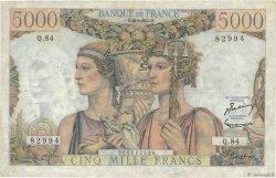 5000 Francs TERRE ET MER FRANCE  1951 F.48.05 TB à TTB