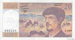 20 Francs DEBUSSY FRANCE  1987 F.66.08 TTB