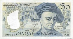 50 Francs QUENTIN DE LA TOUR FRANCE  1990 F.67.16 TTB+