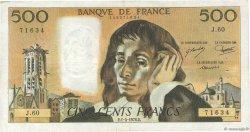 500 Francs PASCAL FRANCE  1976 F.71.14 TB+