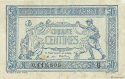 50 Centimes TRÉSORERIE AUX ARMÉES FRANCE  1919 VF.02.04 TB+