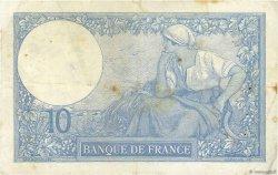 10 Francs MINERVE FRANCE  1921 F.06.05 pr.TTB