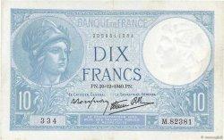 10 Francs MINERVE modifié FRANCE  1940 F.07.25 SUP