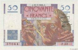 50 Francs LE VERRIER FRANCE  1946 F.20.05 pr.SPL