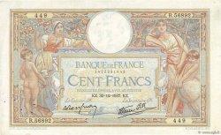 100 Francs LUC OLIVIER MERSON type modifié FRANCE  1937 F.25.07 pr.TTB