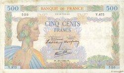 500 Francs LA PAIX FRANCE  1940 F.32.05 TB
