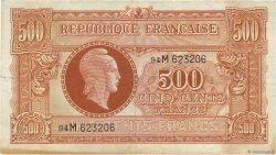 500 Francs MARIANNE FRANCE  1945 VF.11.02 TTB