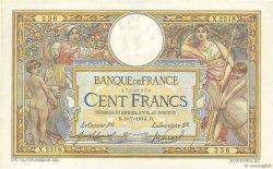 100 Francs LUC OLIVIER MERSON sans LOM FRANCE  1914 F.23.06 SUP