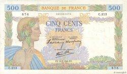 500 Francs LA PAIX FRANCE  1940 F.32.02 TTB