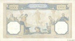 1000 Francs CÉRÈS ET MERCURE type modifié FRANCE  1937 F.38.08 TTB