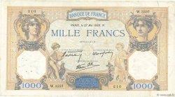1000 Francs CÉRÈS ET MERCURE type modifié FRANCE  1938 F.38.16 TB