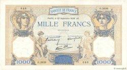 1000 Francs CÉRÈS ET MERCURE type modifié FRANCE  1938 F.38.27 TTB