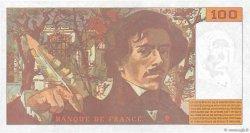 100 Francs DELACROIX 442-1 & 442-2 FRANCE  1994 F.69ter.01b pr.SUP