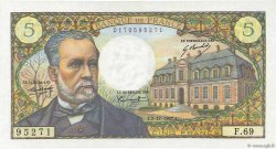 5 Francs PASTEUR FRANCE  1967 F.61.06 SPL