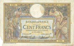 100 Francs LUC OLIVIER MERSON sans LOM FRANCE  1912 F.23.04 TB