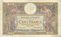 100 Francs LUC OLIVIER MERSON sans LOM FRANCE  1918 F.23.10 pr.TB