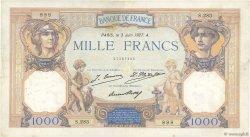 1000 Francs CÉRÈS ET MERCURE FRANCE  1927 F.37.01 pr.TTB