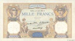 1000 Francs CÉRÈS ET MERCURE FRANCE  1931 F.37.06 pr.SUP