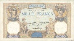 1000 Francs CÉRÈS ET MERCURE FRANCE  1932 F.37.07 TB
