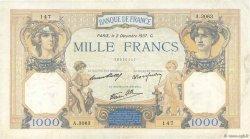 1000 Francs CÉRÈS ET MERCURE type modifié FRANCE  1937 F.38.05 pr.TTB
