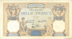 1000 Francs CÉRÈS ET MERCURE type modifié FRANCE  1938 F.38.19 TTB