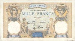 1000 Francs CÉRÈS ET MERCURE type modifié FRANCE  1938 F.38.21 pr.TTB
