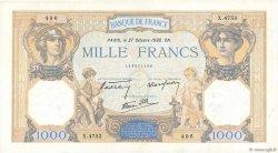 1000 Francs CÉRÈS ET MERCURE type modifié FRANCE  1938 F.38.31 TTB+