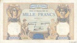 1000 Francs CÉRÈS ET MERCURE type modifié FRANCE  1939 F.38.38 TTB